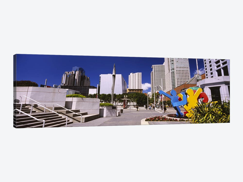 Skyscrapers in a city, Moscone Center, South of Market, San Francisco, California, USA by Panoramic Images 1-piece Canvas Art Print