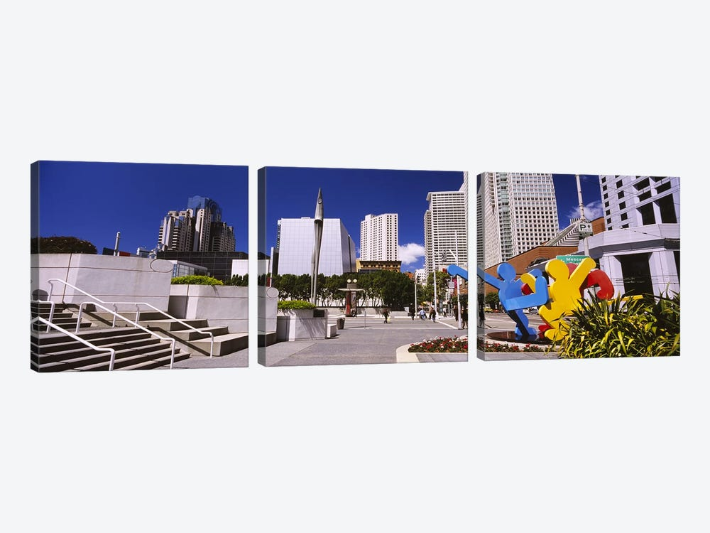 Skyscrapers in a city, Moscone Center, South of Market, San Francisco, California, USA by Panoramic Images 3-piece Canvas Art Print