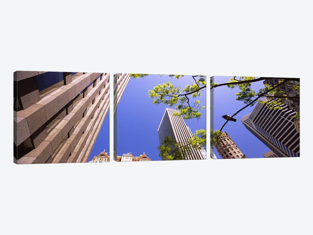 Low angle view of buildings in a city, San Francisco, California, USA by Panoramic Images 3-piece Canvas Art