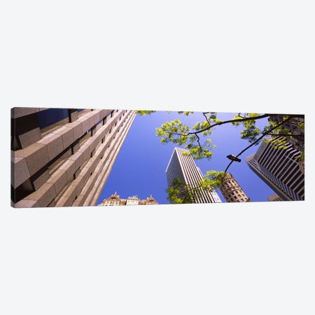 Low angle view of buildings in a city, San Francisco, California, USA Canvas Print #PIM6434} by Panoramic Images Canvas Artwork