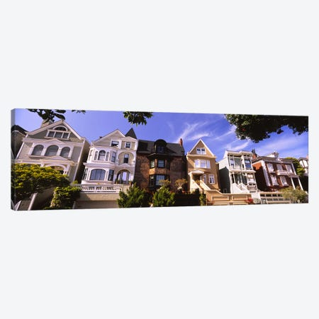 Low angle view of houses in a row, Presidio Heights, San Francisco, California, USA Canvas Print #PIM6437} by Panoramic Images Canvas Art