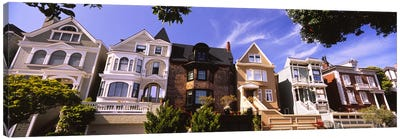 Low angle view of houses in a row, Presidio Heights, San Francisco, California, USA Canvas Print #PIM6437