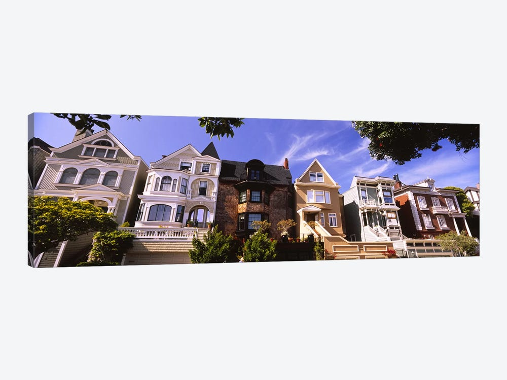 Low angle view of houses in a row, Presidio Heights, San Francisco, California, USA by Panoramic Images 1-piece Canvas Art Print