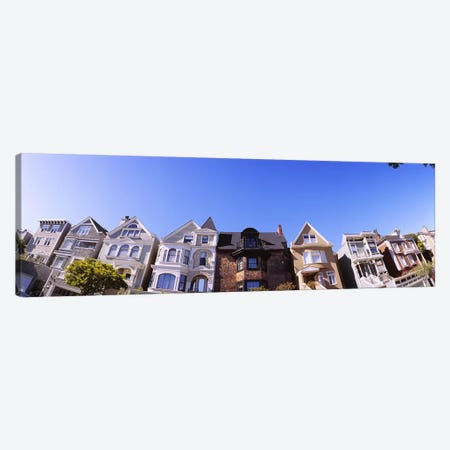 Low angle view of houses in a row, Presidio Heights, San Francisco, California, USA #2 Canvas Print #PIM6438} by Panoramic Images Canvas Art Print