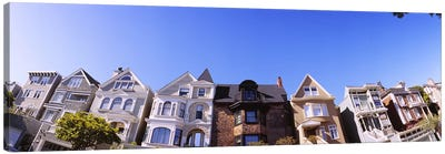 Low angle view of houses in a row, Presidio Heights, San Francisco, California, USA #2 Canvas Print #PIM6438