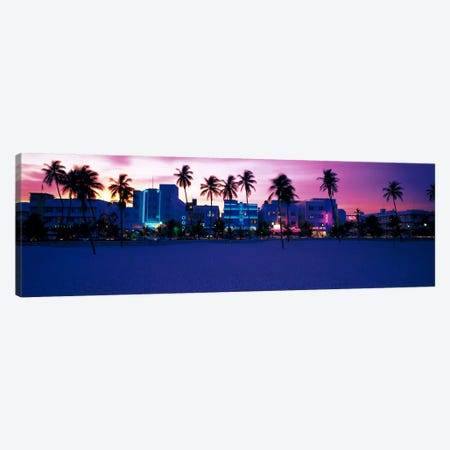 Ocean Drive Miami Beach FL USA Canvas Print #PIM643} by Panoramic Images Canvas Art