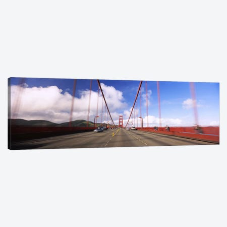 Cars on a bridge, Golden Gate Bridge, San Francisco, California, USA Canvas Print #PIM6440} by Panoramic Images Canvas Art