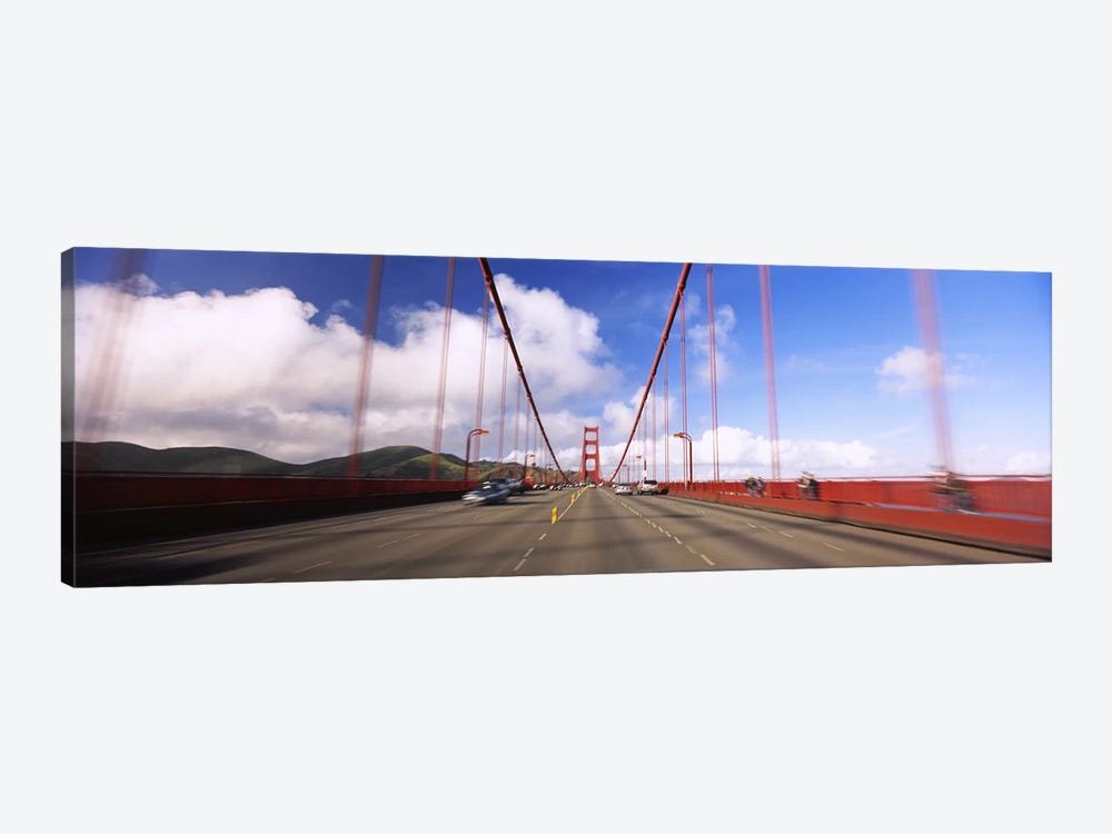 Cars on a bridge, Golden Gate Bridge, San Francisco, California, USA by Panoramic Images 1-piece Canvas Art Print