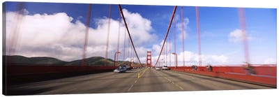 Cars on a bridge, Golden Gate Bridge, San Francisco, California, USA Canvas Art Print