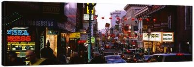 Traffic on a road, Grant Avenue, Chinatown, San Francisco, California, USA Canvas Print #PIM6442