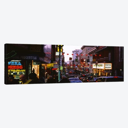 Traffic on a road, Grant Avenue, Chinatown, San Francisco, California, USA Canvas Print #PIM6442} by Panoramic Images Canvas Wall Art