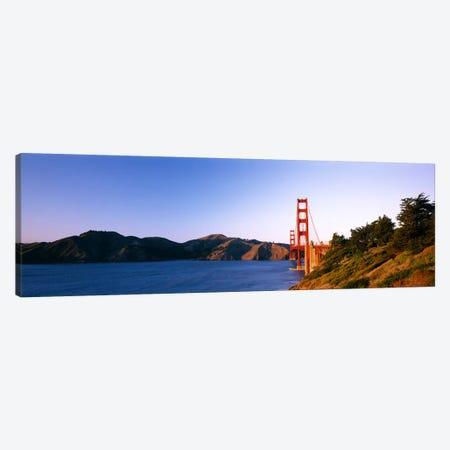 Suspension bridge across the sea, Golden Gate Bridge, San Francisco, California, USA #3 Canvas Print #PIM6444} by Panoramic Images Art Print