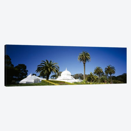 Low angle view of a building in a formal garden, Conservatory of Flowers, Golden Gate Park, San Francisco, California, USA Canvas Print #PIM6445} by Panoramic Images Canvas Print