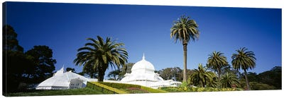 Low angle view of a building in a formal garden, Conservatory of Flowers, Golden Gate Park, San Francisco, California, USA Canvas Print #PIM6445
