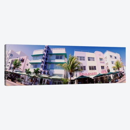 Low angle view of buildings in a city, Miami Beach, Florida, USA Canvas Print #PIM644} by Panoramic Images Canvas Art Print