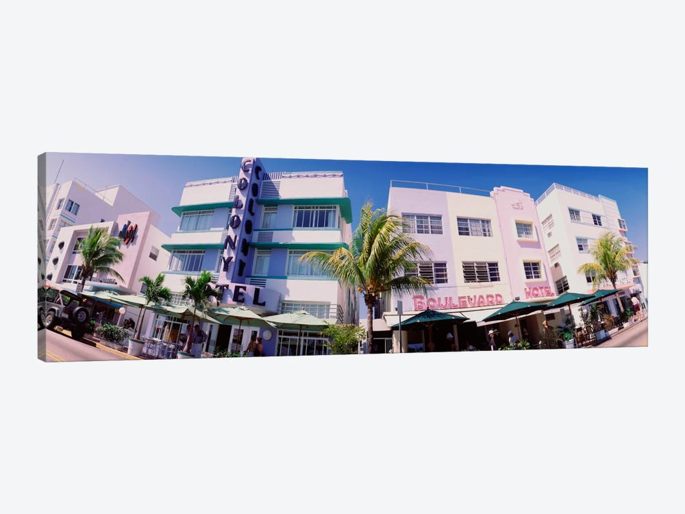 Low angle view of buildings in a city, Miami Beach, Florida, USA by Panoramic Images 1-piece Canvas Art