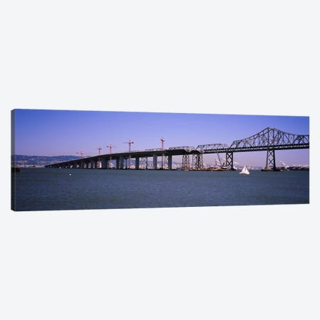 Cranes at a bridge construction site, Bay Bridge, Treasure Island, Oakland, San Francisco, California, USA Canvas Print #PIM6452} by Panoramic Images Canvas Print