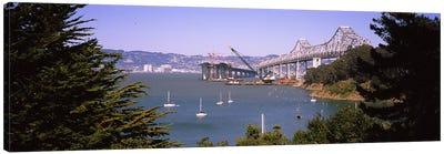 Cranes at a bridge construction site, Bay Bridge, Treasure Island, Oakland, San Francisco, California, USA #2 Canvas Print #PIM6453