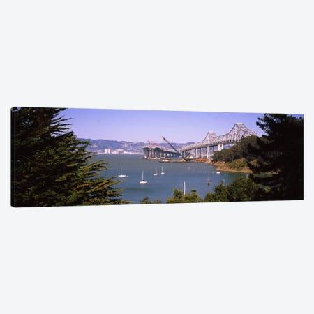 Cranes at a bridge construction site, Bay Bridge, Treasure Island, Oakland, San Francisco, California, USA #2 Canvas Print #PIM6453} by Panoramic Images Art Print