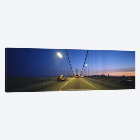 Cars on a suspension bridge, Bay Bridge, San Francisco, California, USA Canvas Print #PIM6454} by Panoramic Images Canvas Wall Art