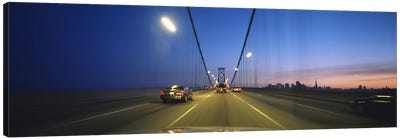 Cars on a suspension bridge, Bay Bridge, San Francisco, California, USA Canvas Art Print