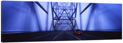 Cars on a suspension bridge, Bay Bridge, San Francisco, California, USA #2 Canvas Art Print