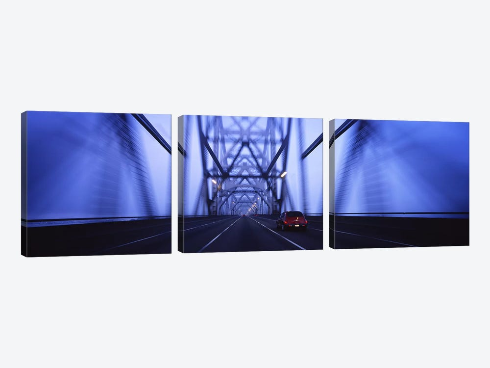 Cars on a suspension bridge, Bay Bridge, San Francisco, California, USA #2 by Panoramic Images 3-piece Canvas Art Print