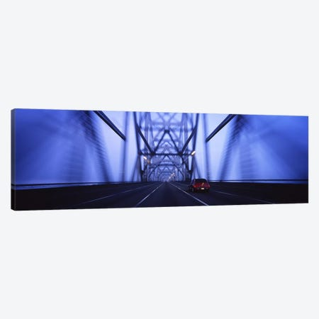 Cars on a suspension bridge, Bay Bridge, San Francisco, California, USA #2 Canvas Print #PIM6455} by Panoramic Images Canvas Artwork