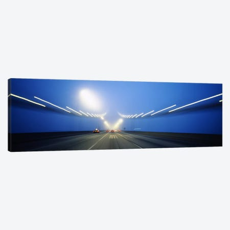 Cars on a suspension bridge, Bay Bridge, San Francisco, California, USA #3 Canvas Print #PIM6456} by Panoramic Images Canvas Artwork