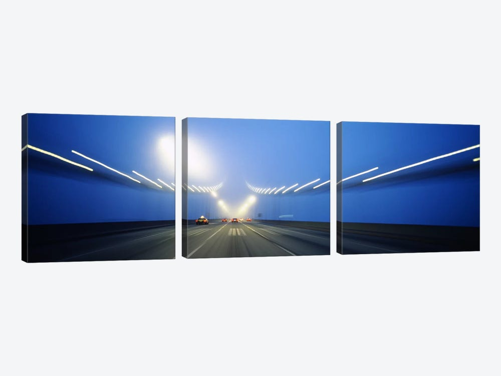 Cars on a suspension bridge, Bay Bridge, San Francisco, California, USA #3 by Panoramic Images 3-piece Canvas Wall Art