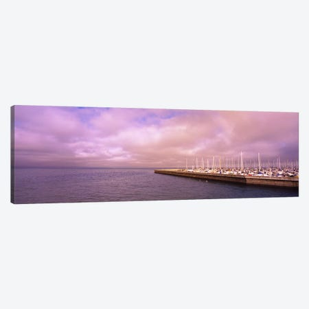 Yachts moored at a harbor, San Francisco Bay, San Francisco, California, USA Canvas Print #PIM6458} by Panoramic Images Canvas Art Print