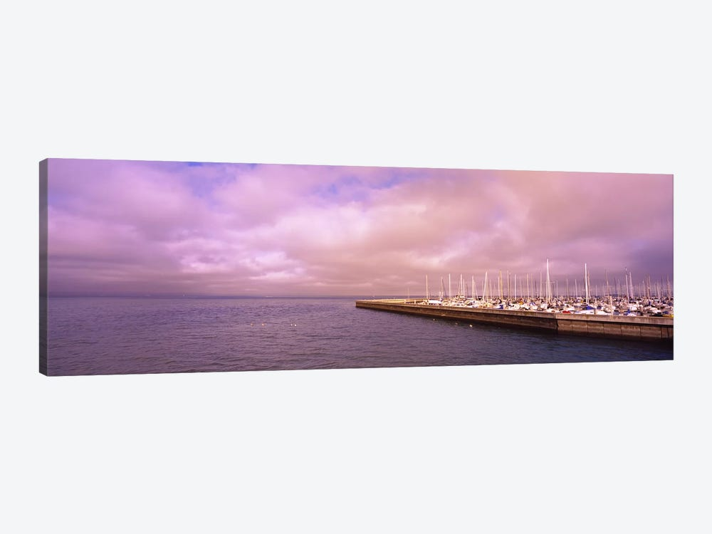 Yachts moored at a harbor, San Francisco Bay, San Francisco, California, USA by Panoramic Images 1-piece Canvas Artwork