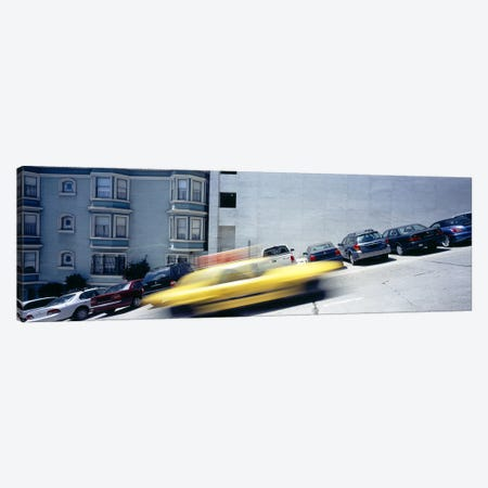 Cars parked on the roadside, San Francisco, California, USA Canvas Print #PIM6459} by Panoramic Images Canvas Art Print