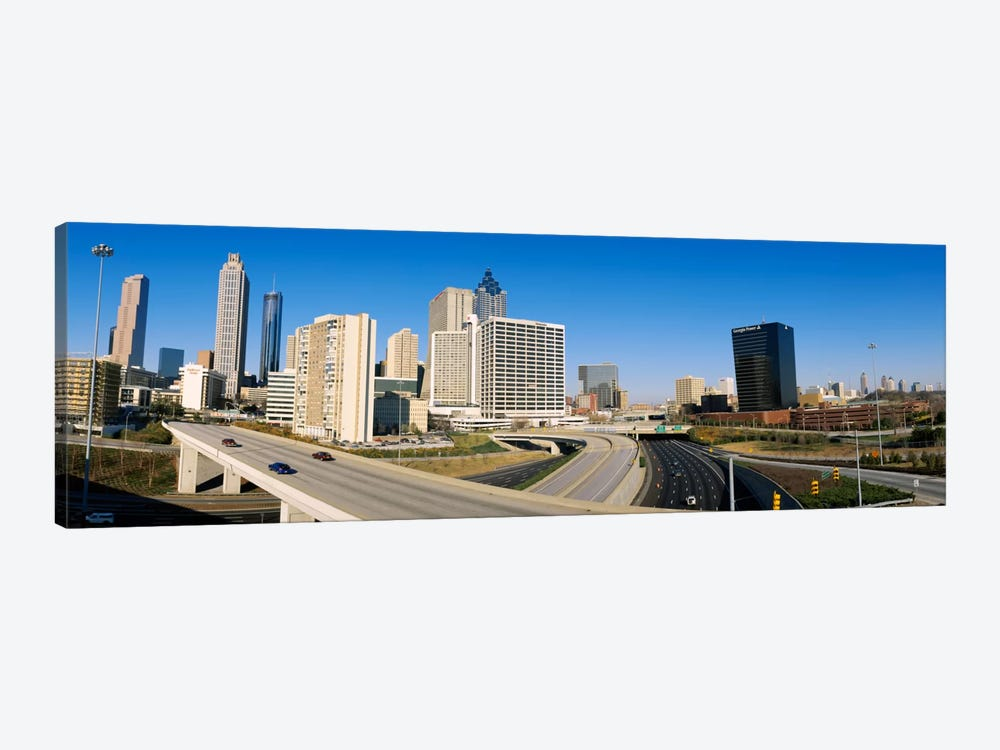 Skyscrapers in a cityCityscape, Atlanta, Georgia, USA by Panoramic Images 1-piece Canvas Print
