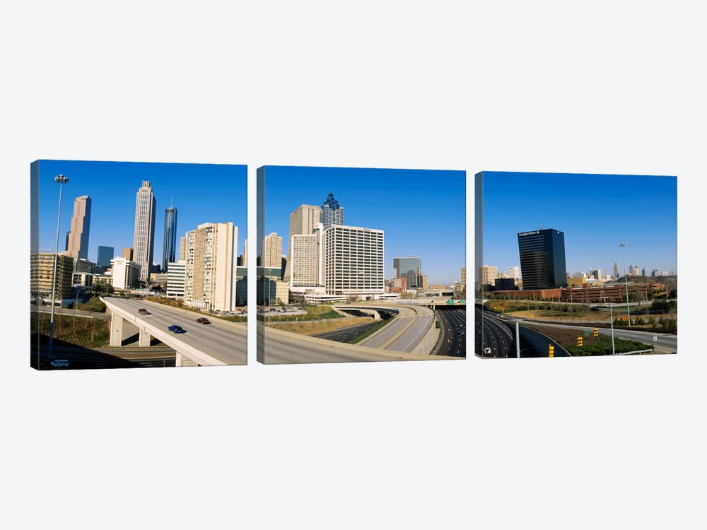 Skyscrapers in a cityCityscape, Atlanta, Georgia, USA 3-piece Art Print