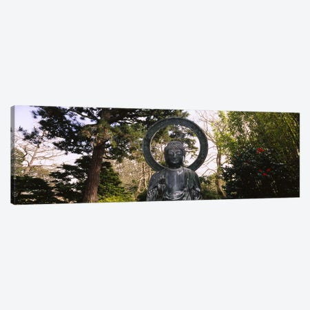 Statue of Buddha in a park, Japanese Tea Garden, Golden Gate Park, San Francisco, California, USA Canvas Print #PIM6461} by Panoramic Images Canvas Art