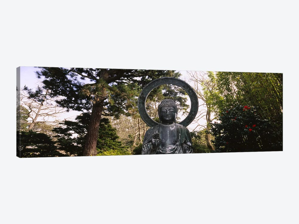 Statue of Buddha in a park, Japanese Tea Garden, Golden Gate Park, San Francisco, California, USA by Panoramic Images 1-piece Canvas Artwork