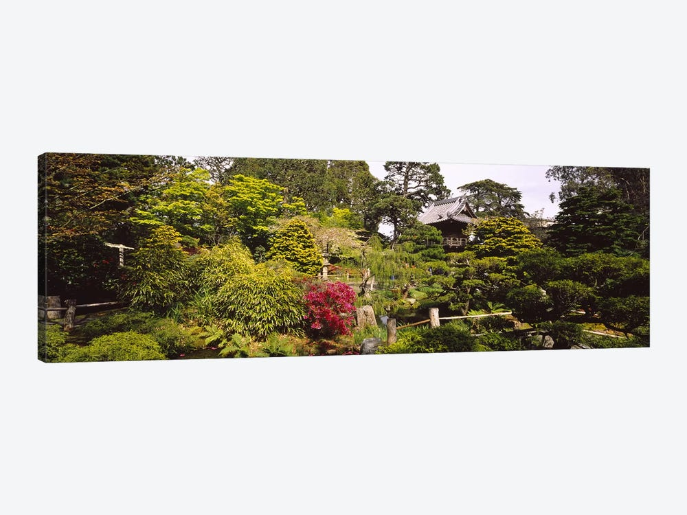 Cottage in a park, Japanese Tea Garden, Golden Gate Park, San Francisco, California, USA by Panoramic Images 1-piece Canvas Print