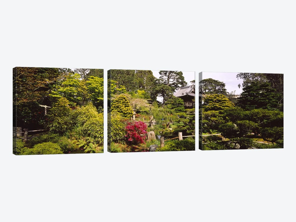 Cottage in a park, Japanese Tea Garden, Golden Gate Park, San Francisco, California, USA by Panoramic Images 3-piece Art Print