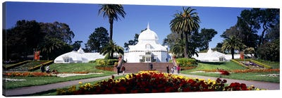 Tourists in a formal garden, Conservatory of Flowers, Golden Gate Park, San Francisco, California, USA Canvas Print #PIM6463