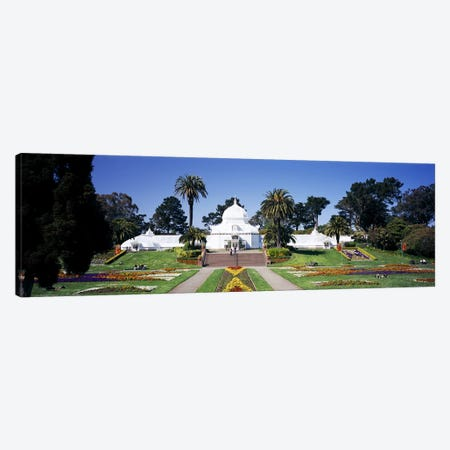 Facade of a building, Conservatory of Flowers, Golden Gate Park, San Francisco, California, USA Canvas Print #PIM6464} by Panoramic Images Art Print