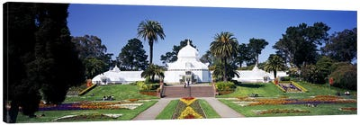 Facade of a building, Conservatory of Flowers, Golden Gate Park, San Francisco, California, USA Canvas Print #PIM6464