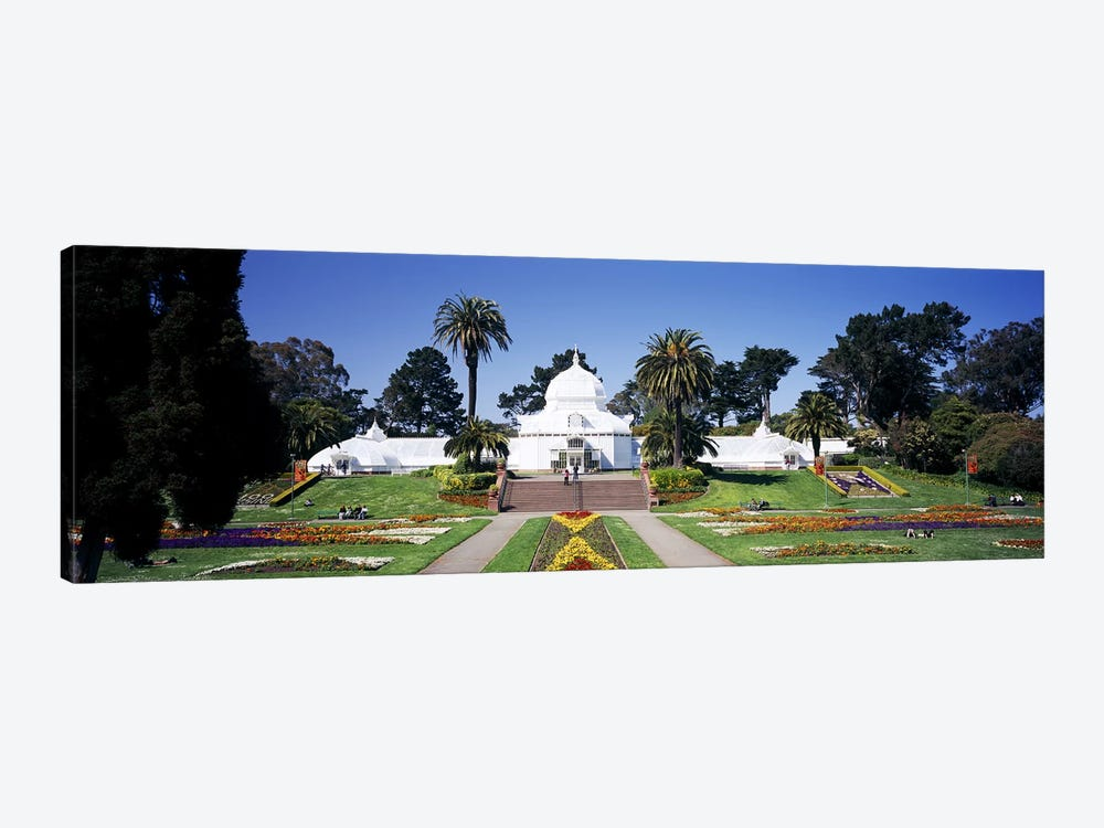 Facade of a building, Conservatory of Flowers, Golden Gate Park, San Francisco, California, USA by Panoramic Images 1-piece Canvas Art Print
