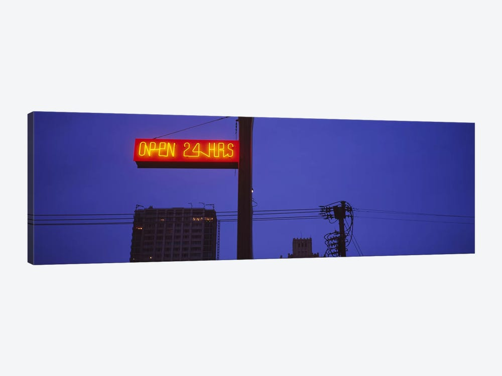 Low angle view of a neon sign, San Francisco, California, USA by Panoramic Images 1-piece Canvas Wall Art