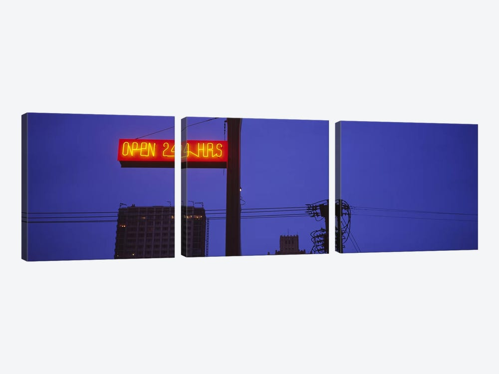Low angle view of a neon sign, San Francisco, California, USA by Panoramic Images 3-piece Canvas Art
