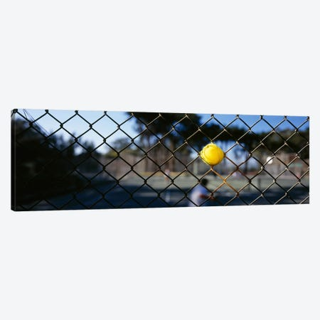 Close-up of a tennis ball stuck in a fence, San Francisco, California, USA Canvas Print #PIM6466} by Panoramic Images Canvas Print