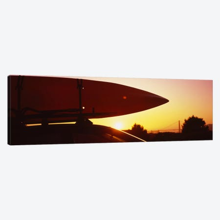 Close-up of a kayak on a car roof at sunset, San Francisco, California, USA Canvas Print #PIM6467} by Panoramic Images Canvas Art Print