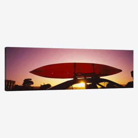 Close-up of a kayak on a car roof at sunset, San Francisco, California, USA #2 Canvas Print #PIM6468} by Panoramic Images Canvas Artwork