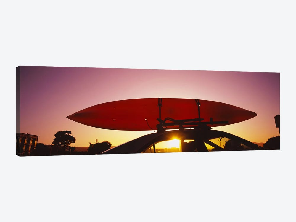 Close-up of a kayak on a car roof at sunset, San Francisco, California, USA #2 by Panoramic Images 1-piece Art Print