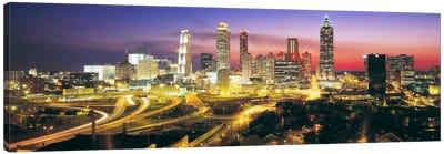SkylineEvening, Dusk, Illuminated, Atlanta, Georgia, USA, Canvas Print #PIM646